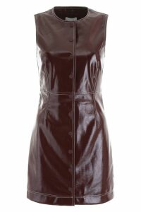 Ganni Faux Leather Dress