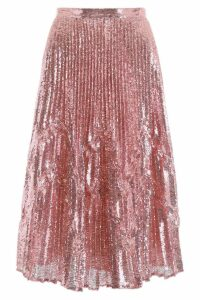 Marco de Vincenzo Pleated Sequins Skirt