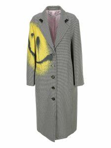Alexander Wang Smile Detail Houndstooth Coat