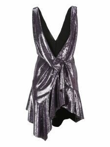 Philosophy Sequin Plunge Mini Dress