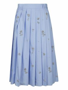 Prada Embellished Pleated Skirt