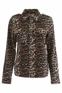Ganni Leopard-printed Shirt