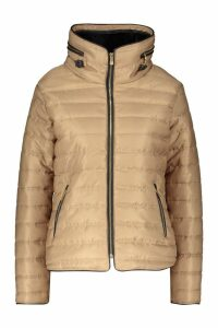 Womens Quilted Jacket - beige - L, Beige