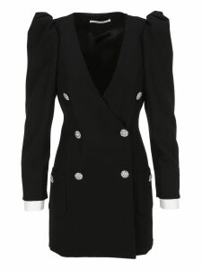 Alessandra Rich Puff Sleeves Mini Dress