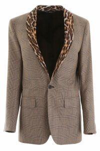 R13 Blazer With Animalier Lapels