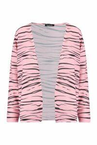 Womens Short Zebra Kimono - Pink - M, Pink