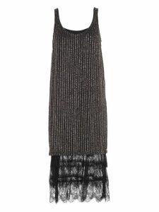 TwinSet Dress W/s Long Bottom Lace