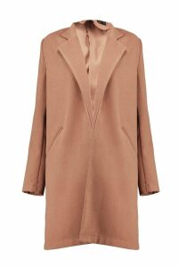 Womens Wool Look Coat - beige - M, Beige