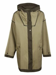 Erika Cavallini Button-Up Hooded Coat