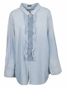 R13 Drop Neck Tuxedo Shirt