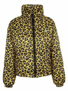 MSGM Leopard Print Padded Jacket