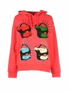 Gucci Cotton Mask Logo Hoodie/maschera Hoodie