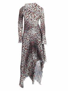 MarquesAlmeida Dress Printed Satin W/pleated Skirt