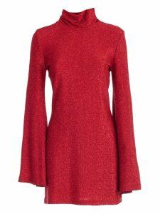 Sara Battaglia Dress L/s High Neck Lurex
