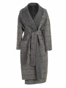 TwinSet Coat Double Check W/belt