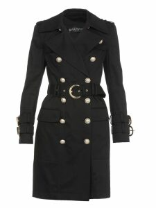 Balmain Cotton Gabardine Trench Coat