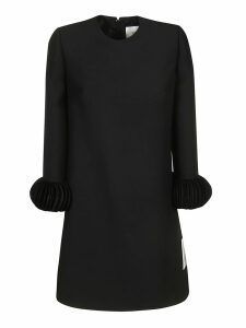 Valentino Pleated Cuffed Dress