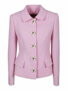 Dolce & Gabbana Floral Buttoned Blazer