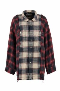 R13 Checked Flannel Shirt