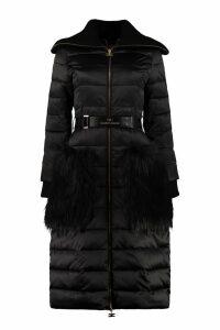 Elisabetta Franchi Celyn B. Long Padded Jacket With Belt
