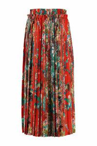 Golden Goose Midori Printed Pleated Skirt