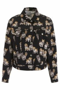 MSGM Cats Print Denim Jacket