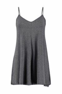 Womens Basic Strappy Swing Playsuit - grey - 12, Grey