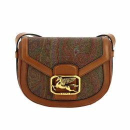 Etro Crossbody Bags Pegaso Etro Bag In Leather And Ethnic Fabric