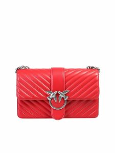 Pinko Quilted Love Bag