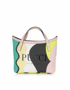 Emilio Pucci Two Tone Canvas Tote Bag
