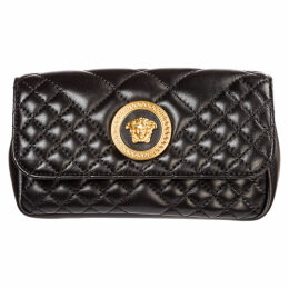 Versace Leather Belt Bum Bag Hip Pouch Medusa