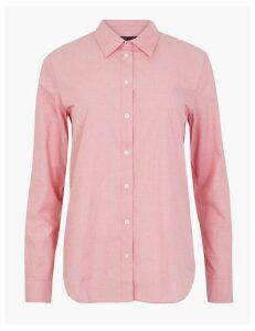 M&S Collection Pima Cotton Polka Dot Print Shirt