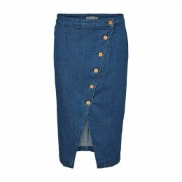 Denim Wrapover Skirt
