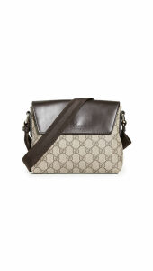 What Goes Around Comes Around Gucci Brown Coated Canvas Messenger Bag