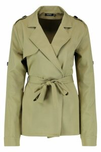 Womens Tall Trench Coat - green - 12, Green