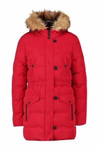 Womens Luxe Mountaineering Parka - red - 16, Red
