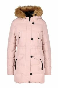 Womens Luxe Mountaineering Parka - pink - 14, Pink