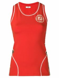 Fendi logo sports tank top - Orange