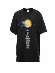 Vetements - Mars Oversized Cotton Jersey T Shirt - Womens - Black Multi