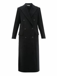 Katharine Hamnett London - Simona Double Breasted Moleskin Coat - Womens - Black