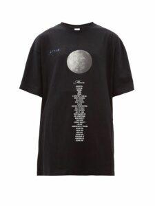 Vetements - Moon Oversized Cotton Jersey T Shirt - Womens - Black Multi
