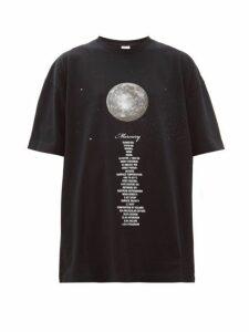 Vetements - Mercury Oversized Cotton Jersey T Shirt - Womens - Black Multi