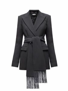 Altuzarra - Murphy Fringed Belt Single Breasted Blazer - Womens - Black