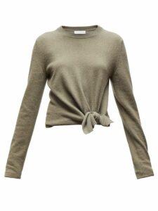 Altuzarra - Nalini Knotted Cashmere Sweater - Womens - Dark Green