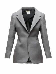 Bottega Veneta - Single Breasted Blazer - Womens - Grey