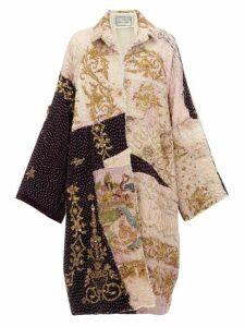 By Walid - Liza 19th Century Ecclesiastical Silk Coat - Womens - Ivory Multi