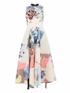 Roksanda - Laura Abstract Embroidered Taffeta Dress - Womens - Multi