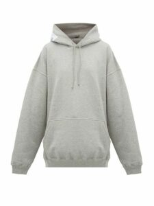 Vetements - Atelier Patch Cotton Hooded Sweatshirt - Womens - Grey