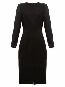 Cefinn - Stretch Ponte Contrast Sleeve Pencil Dress - Womens - Black