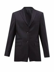 Officine Générale - Charlene Single Breasted Pindot Wool Blazer - Womens - Navy
